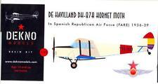 Dekno Models 1/72 DE HAVILLAND DH-87A HORNET MOTH Spanish Republican Air Force