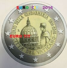 2 €  VATICAN  COMMEMORATIVE  GENDARMERIE VATICANE   2016  /  RARE /   disponible