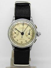 """montre Chronographe 3 poussoirs """"chronographe suisse""""  LANDERON 47,vintage1940"""