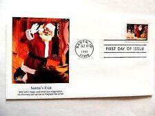 """octobre 17th, 1991 Saison VOEUX """" Santa's Exit """" First jour édition"""