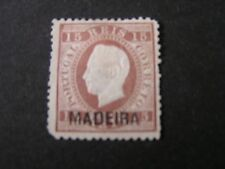 *PORTUGAL,MADEIRA, SCOTT # 21, 15r. VALUE BROWN 1875 KING RUIZ OVPT MADEIRA  MNG