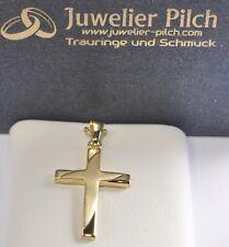 585 Gold - Gelbgold - Kreuzanhänger - Anhänger Kreuz  - Top Design !! ANADA