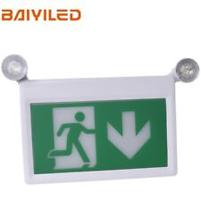 Standard Led Exit Sign Light With Dual Emergency Light Running Man And Arrow