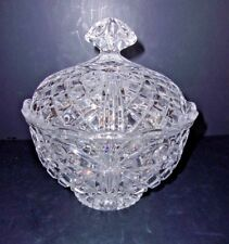 "Crystal Clear Fifth Avenue ""Brighton"" 24% Lead Crystal Candy Dish with Lid"