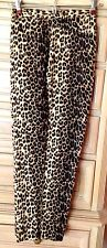 NWT David Brooks Linen Blend Leopard Print Capri Pants 14