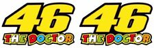 46 THE DOCTOR Valentino Rossi Vinyl Sticker decals 75 x 45 mm Set Of 2