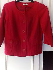 Ladies Red Linen Mix Jacket 10 (432B)
