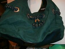 MONDANI FOREST GREEN Ultra Suede Satchel -  NWT