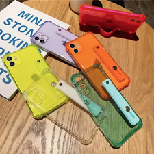 Coque Pour iPhone 12,12 Pro12 Mini Silicone Souple ANTICHOC Avec Support Sangle