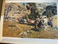 "Frank C (Franklin) McCarthy (1924-2002) ""In The Pass"" 1488/1500 LE Print - COA"
