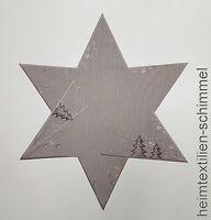PLAUENER SPITZE ® Tischdeckchen WEIHNACHTEN Deckchen STERN Tischdecke 60cm Deko