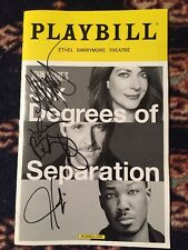 Corey Hawkins,John Hickey,Allison Janney Six Degrees Of Separation Sign Playbill