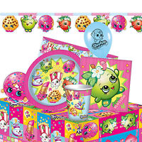 SHOPKINS - Birthday PARTY RANGE (Tableware, Balloons & Decorations) Girls Theme