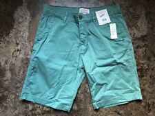 Weatherproof Vintage Cotton Flat Front Short Sea Green Men's Size 36 New