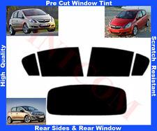 Passgenaue Auto-Tönungsfolie Opel Corsa D 5T 07-.. Heck/Seitenscheiben 5%-50%