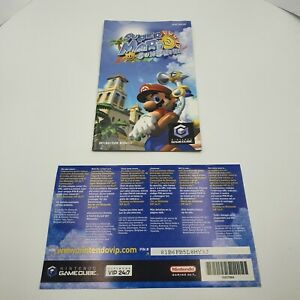 Super Mario Sunshine Instruction Manual Booklet & VIP Card - GameCube - UK PAL