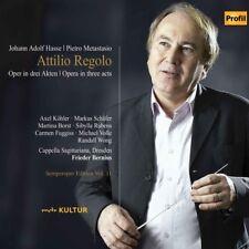 Attilio Regolo - 3 DISC SET - Hasse / Volle / Wong (2018, CD NEUF)