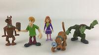 "Scooby Doo Mini 2.5"" Figure Set 5pc Lot Shaggy Daphne Scoob Hanna Barbera 2008"