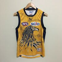 West Coast Eagles Indigenous 2014 AFL Jumper Guernsey Yellow Mens Small