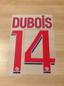 Flocage officiel DUBOIS N°14 OL 2021/2022 pour maillot domicile home vendeur pro