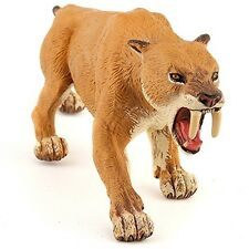 Papo Collectable Model Animal Toy - Smilodon Saber-toothed Tiger - Prehistoric