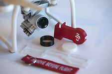 DJI Phantom 3 Standard Deluxe Flight Kit RED - Cap - Hood - Guard - Lock - keych