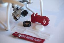 DJI Phantom 3 Standard Deluxe Flight Kit RED - Cap - Hood - Guard - Lock - keych