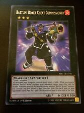 MP14-EN160 Yugioh! BATTLIN' BOXER CHEAT COMMISSIONER - 1st Ed  RARE Near Mint x1