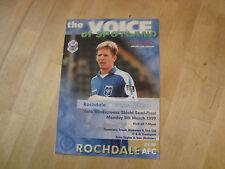 Rochdale v Wigan 1999 Auto Windscreen Shield Northern Area Cup Semi Final