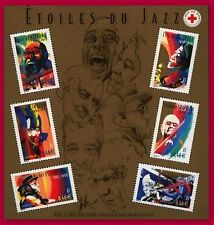 2002 FRANCE  BLOC N°50** LES ETOILES DU JAZZ / STARS OF THE JAZZ / SHEET MNH