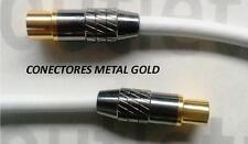 CABLE ANTENA TV MACHO>HEMBRA 5 m. CONECTORES METAL GOLD OAT-5