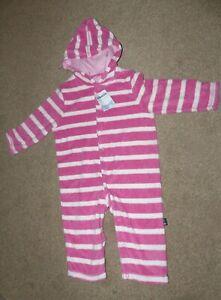 JoJo Maman Bebe Girls One Piece Hooded Sleepsuit Age 6-12 months