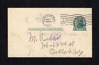 UX27D UPSS #S39 USED Postal Card, UPSS Cat. $175.00