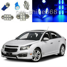 Blue LED Interior 9X Lights Package KIT for Chevrolet Chevy Cruze 2011 2015