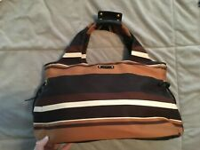 kate spade brown striped Stevie tote-- AUTHENTIC