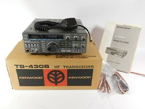Kenwood TS-430S Ham Transceiver w/ Filters + FM Board + Box (no receive on SSB)