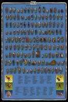 Vintage Star Wars Poster 140 Action Figures Checklist Kenner Palitoy Print A3