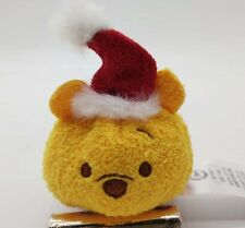 "2016 arrival Disney Store Christmas Winnie the pooh Tsum Tsum 3.5"" Mini Plush"