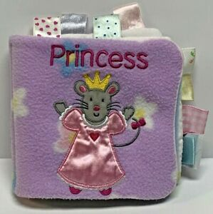 My First Taggies Princess Soft Plush Baby Book Animals Tags Lovey Toy Sensory