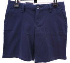 "Nwt Gap School Uniform Navy Shorts Mid Rise 6"" Girls Sz 12 Regular Adjustable"