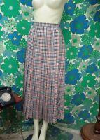 AE44 Vintage 1970's 1980's Jaeger Wool Pleated Skirt Waist 28