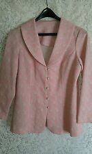 VTG 70,s Polyester 3 Pice Dress, Jacket, & Pants Pink White & Silver