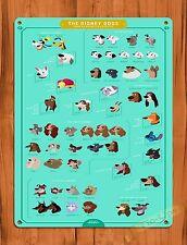"TIN SIGN ""The Disney Dogs"" Vintage Walt Disney Ride Art Poster"