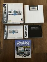 Final Fantasy I & II Dawn of Souls Nintendo Game Boy Advance Complete In Box