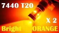 7440 T20 Super Bright Orange Amber 30W CREE LED Tail Lights Blinker Bulbs
