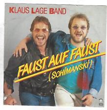 Klaus Lage Band :  Faust auf Faust (Schimanski), Taxi, EMI Vinyl Single , 1985