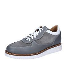premium selection 45e7f 004e4 Zapatos de hombre Zapatos pesquerías plenamente documentadas 10 (EU 43)  elegante Gamuza Cuero Gris BZ388-E