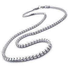 Schmuck Herren Kette, Edelstahl Halskette, Silber, Breite 3mm, Laenge 55cm R1L7