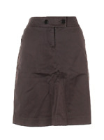 J Crew Brown Knee Length A line casual Skirt  Womens Size 8