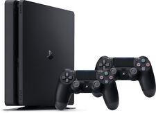 SONY PLAYSTATION 4 SLIM 500GB BLACK CONSOLE + 2 CONTROLLER BUNDLE